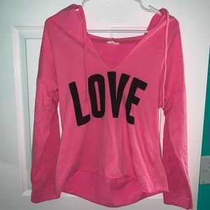 Never worn LOVE hooded pullover